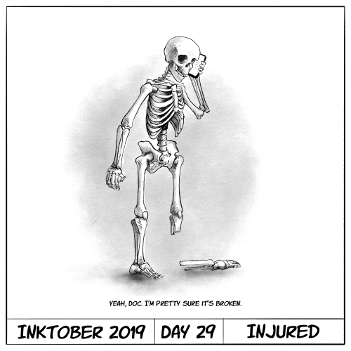 Inktober 2019 Day 29 - Injured