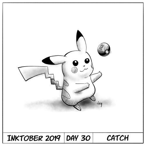 Inktober 2019 Day 30 - Catch
