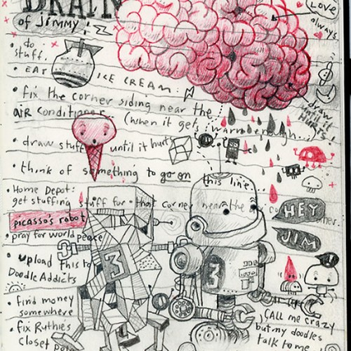 The brain of jimmy to-do list.