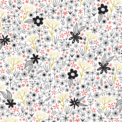 tiny floral patterns