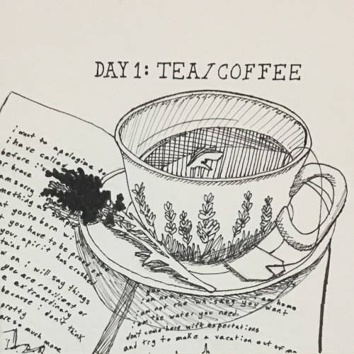 Inktober Day 1: Tea/Coffee