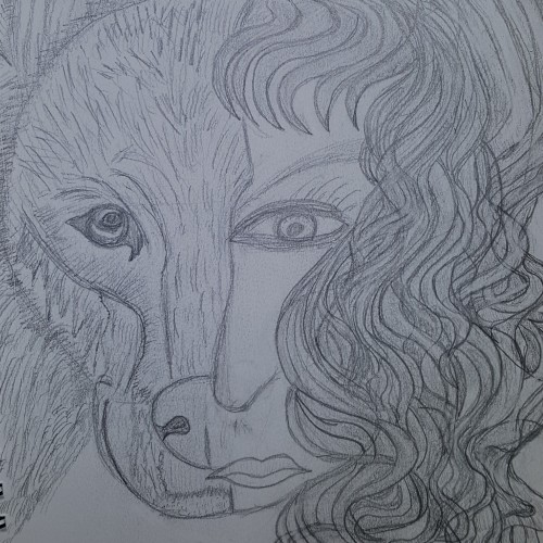 Woman and Wolf 1