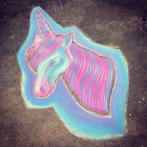 Sidewalk Chalk Unicorn