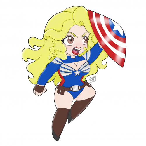 Pin Up Captain America