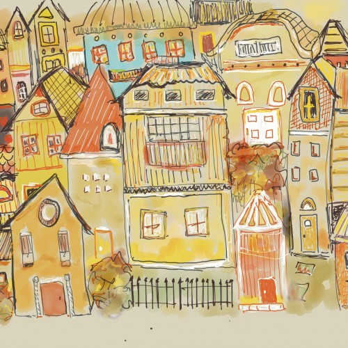 houses in yellow