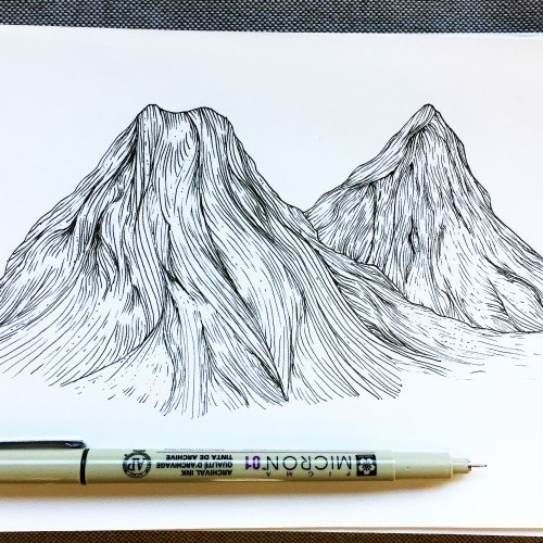Mountains I Drew Over Lunch