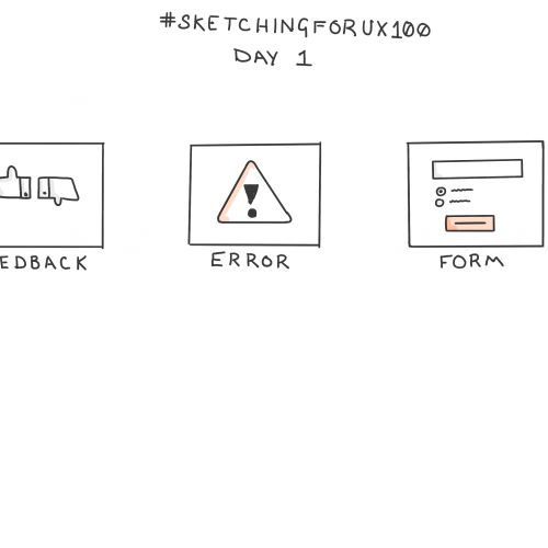 100 Days of UX Sketches - Day 1