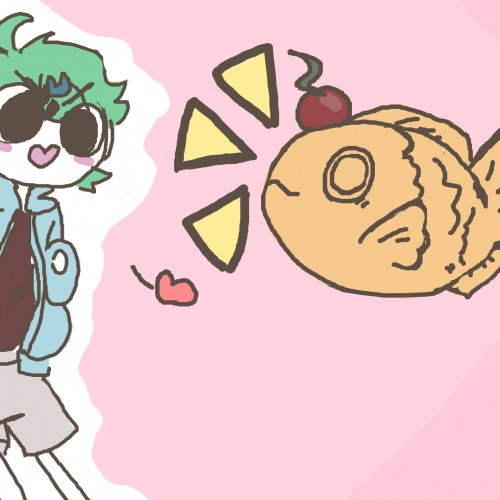 Just a random doodle of scal and his taiyaki