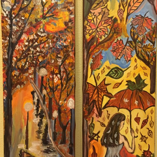 Acrylic on canvas Autumn colors