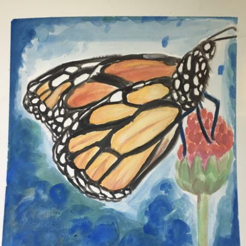 Butterfly painting