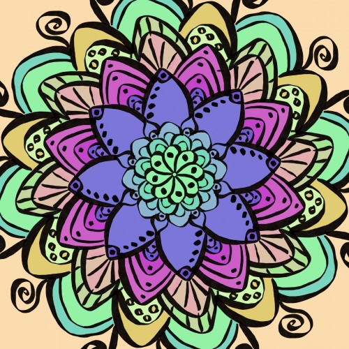 Mandala 1# of a Mandala a day for 30 days