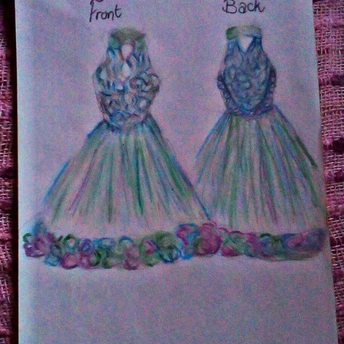 Lace Halterneck Dress Design
