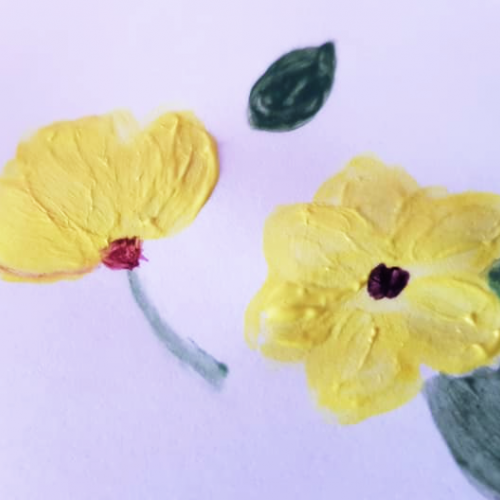 Flowers- Opaque Watercolors