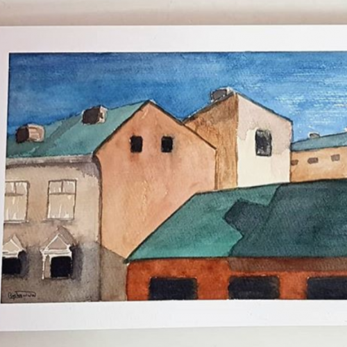 Houses- Watercolor