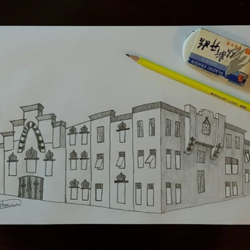 Pencil Drawing- Urban
