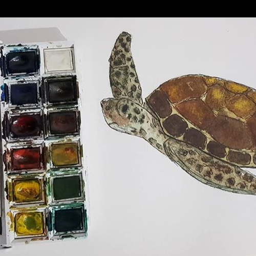 Sea Turtle- Watercolor