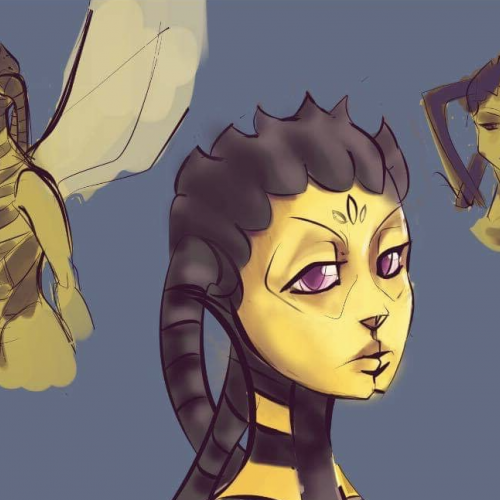 Wasp Character Art