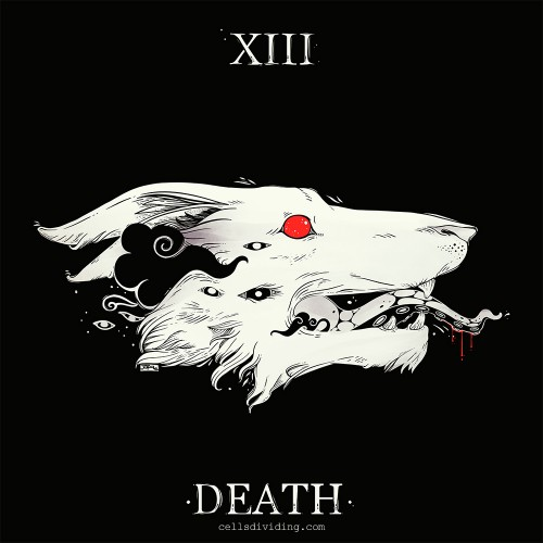 Wolf Death Tarot Card