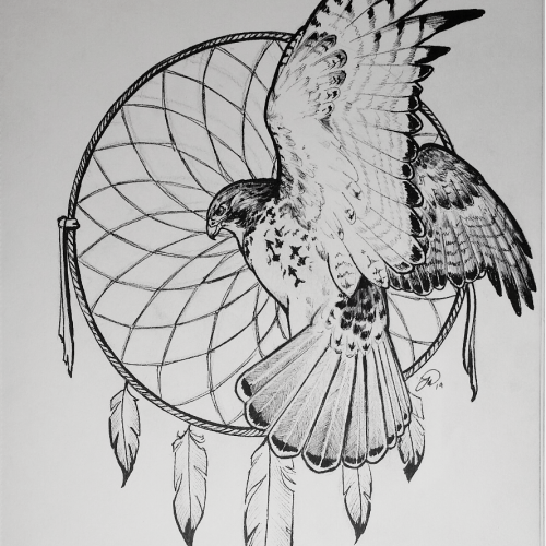 Dream Catcher and Red Tail commission