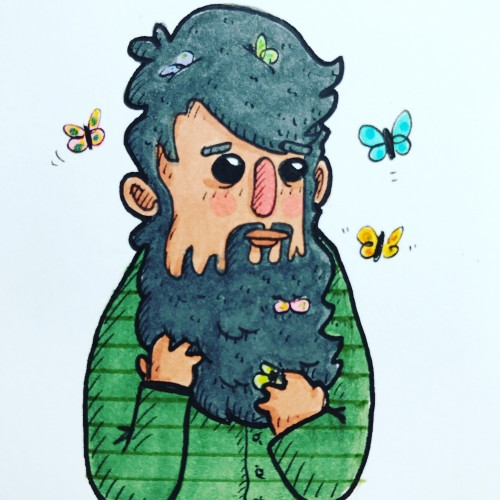 Beard of butterflies