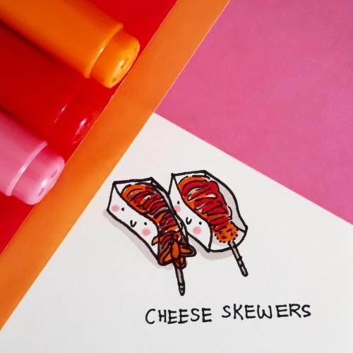 Cheese Skwers doodle