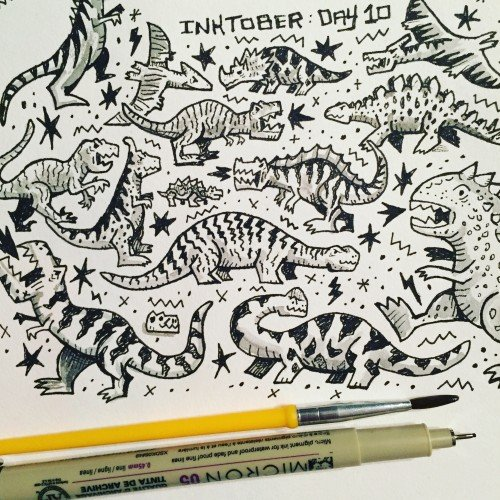 Inktober Day 10 - Pattern