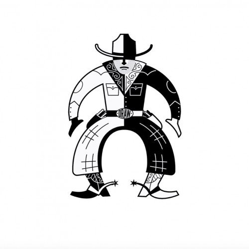 Cowboy draw logo and doodle