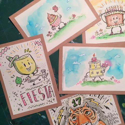 Doodle Birthday cards