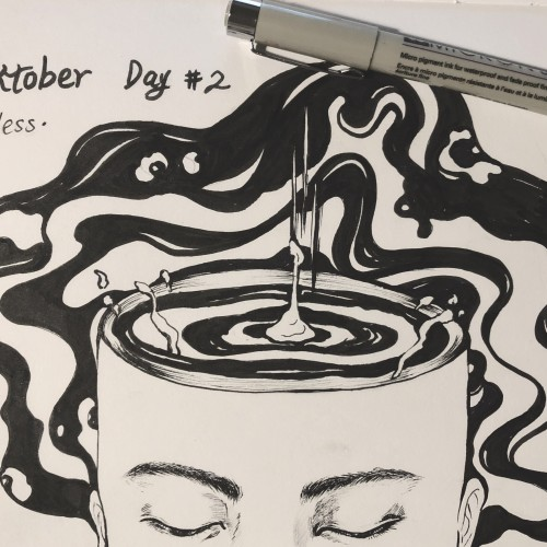 Inktober day 2 mindless