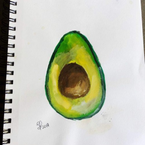 Avocado Acrylic Painting