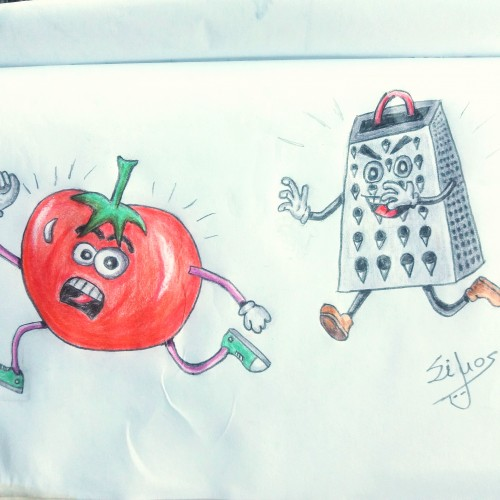 One year drawing challenge / Day 6 / Tomato sauce!