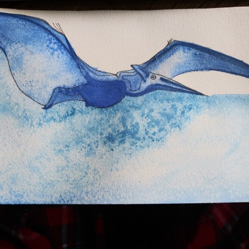 Pterodactyl in blue