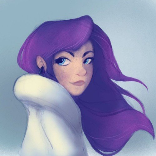 Girl with the Purple Hair