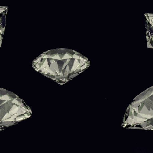 Diamonds rendered in Blender 3d