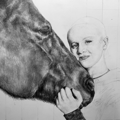 Girl and Horse WIP