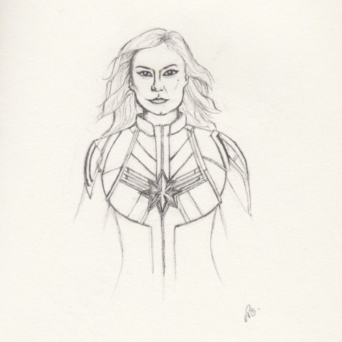 Captain Marvel drawing