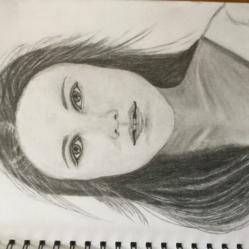 Yesterday's drawing - pretty girl portrait