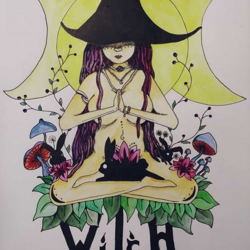 Yoga Witch (w/ Water color)