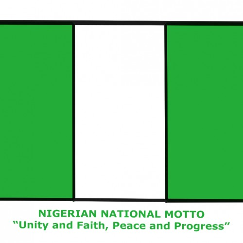 Nigerian National Flag Motto