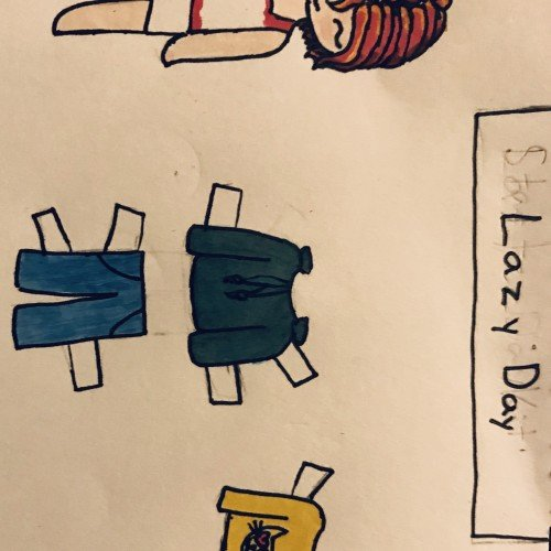 Lazy Day Paper Doll