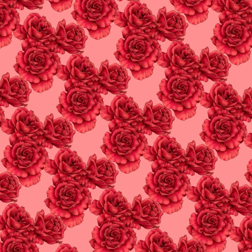 textile pattern in red