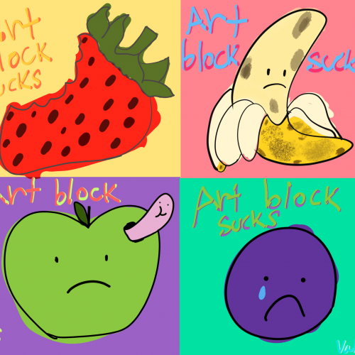 Sad fruits (Adobe Fresco)