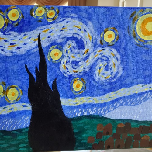Simplified Starry Night