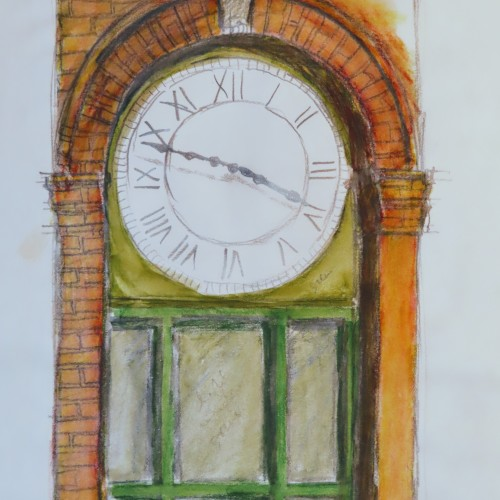 Hometown Series: Town Clock Sketch