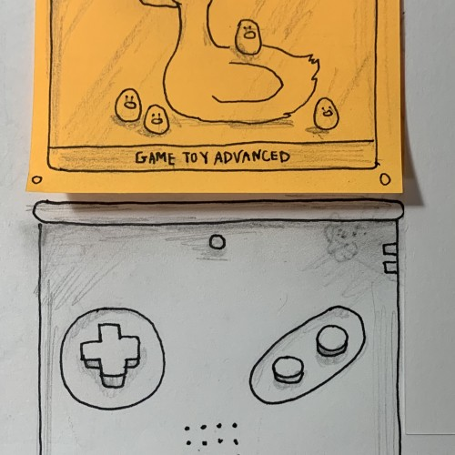 Duck and birbs in a Game Toy Advanced and yes that's a blatant parody of a certain game console that I will not say in case they decide to sue me