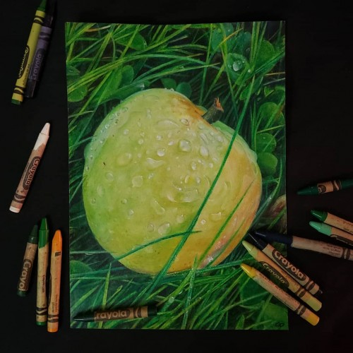 Crabapple in Crayola crayon