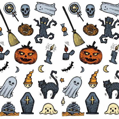 Halloween Pattern Color