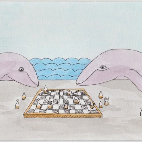 Whales playing chess