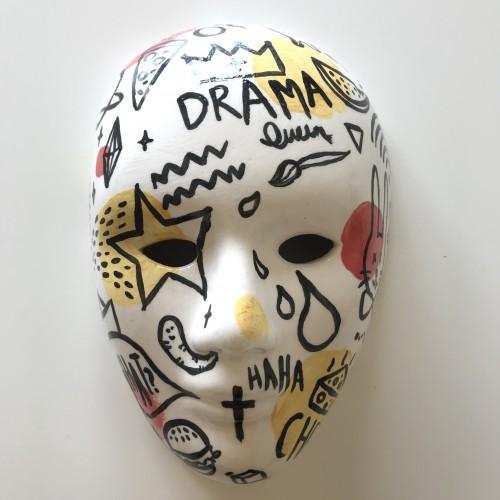 Doodled Ceramic Mask