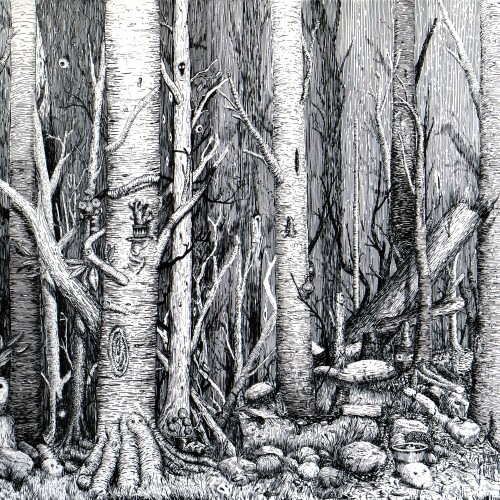 My finished forest drawing